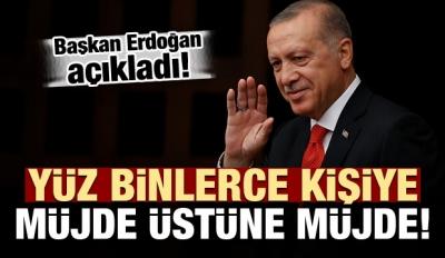 Başkan Erdoğan duyurdu! Büyük müjde...