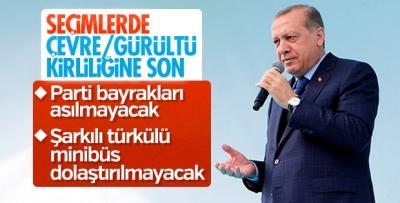 Başkan Erdoğan'dan partilerin plastik bayrak asmasına tepki