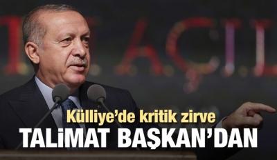Başkan Erdoğan'ın talimatıyla zirve toplandı