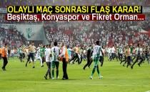 Beşiktaş, Konyaspor ve Fikret Orman, PFDK'ya Sevk Edildi