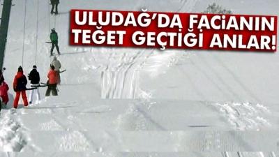 Bursa Uludağ'da korku dolu anlar! Çok sayıda kişi kar altında kaldı