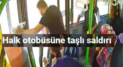 Bursa'da Halk Otobüsüne Taşlı Saldırı!