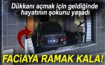 Bursa'da Kadın Kuaförüne Araç Girdi, Faciadan Dönüldü!