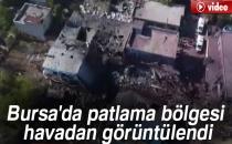 Bursa'da Patlama Bölgesi Havadan Görüntülendi