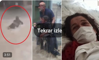 Bursa'da Sel Sularına Kapılan Kadın Yaşadığı Korku Dolu Anları Anlattı