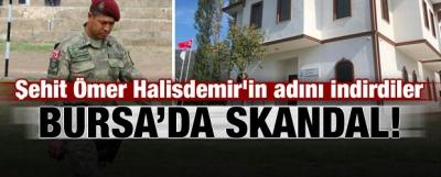 Bursa'da skandal! Halisdemir'in adını indirdiler