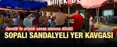 Bursa'da Sopalı Sandalyeli Yer Kavgası