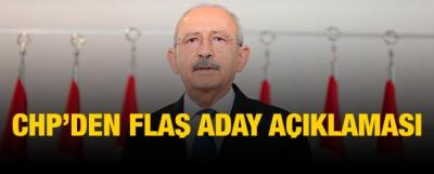 CHP'den Flaş Aday Açıklaması!