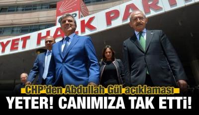 CHP'den kritik Abdullah Gül açıklaması!