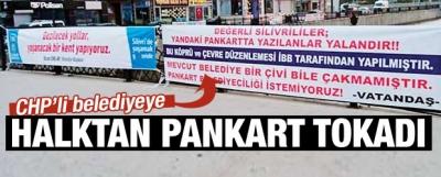 CHP'li belediyeye halktan pankart tokadı