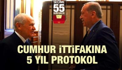 Cumhur İttifakına 5 yıllık protokol