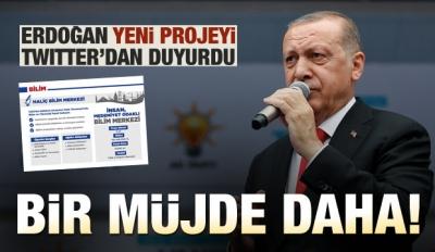 Cumhurbaşkanı Erdoğan'dan Bilim Merkezi müjdesi