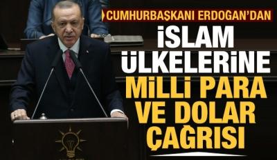 Cumhurbaşkanı Erdoğan'dan İslam ülkelerine milli para ve dolar çağrısı!