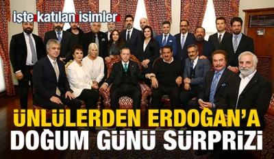 Cumhurbaşkanı Erdoğan sanatçıları kabul etti!