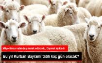 Diyanet Kurban Bayramı 2017 Tarihini Açıkladı!