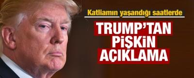 Dünyadan tepki yağıyor! Trump'tan pişkin açıklama