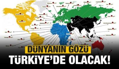 Dünyanın gözü Türkiye'de olacak!