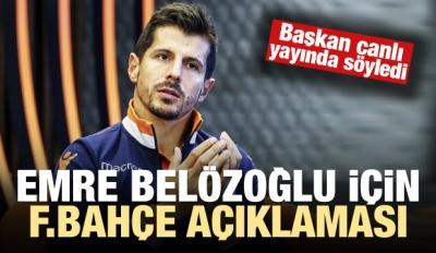 Emre Belözoğlu için flaş F.Bahçe açıklaması!