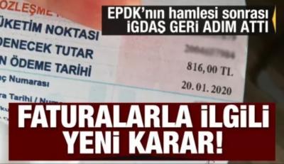 EPDK'nın hamlesi sonrası İGDAŞ geri adım attı! Faturalarla ilgili yeni karar