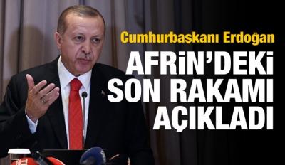 Erdoğan açıkladı! İşte Afrin'de son rakam...