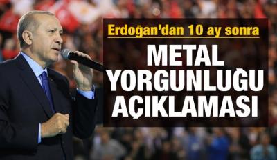 Erdoğan: Diriliş harekatı yeniden başladı