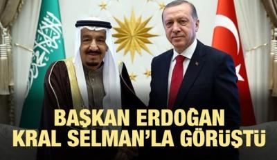 Erdoğan Kral Selman'la görüştü!