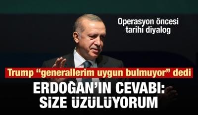 Erdoğan, Trump'la olan diyaloğunu anlattı