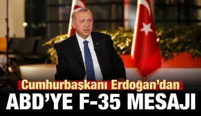 Erdoğan'dan ABD'ye F-35 mesajı
