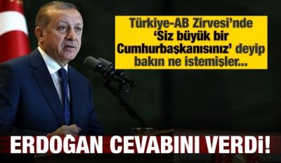 Erdoğan'dan AB'ye: Adaletten büyük değilim