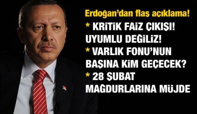 Erdoğan'dan 'faiz' açıklaması! Karar alacağız