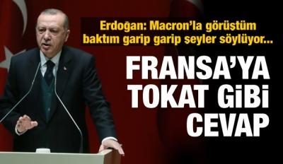 Erdoğan'dan Fransa'ya tokat gibi cevap!