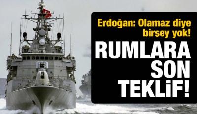 Erdoğan'dan Rum lidere son teklif!