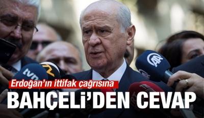 Erdoğan'ın ittifak çağrısına Bahçeli'den cevap!