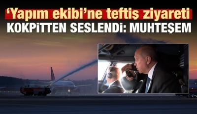 Erdoğan'ın uçağı Üçüncü Havalimanı'na iniş yaptı!