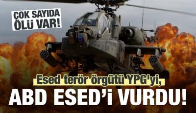Esed terör örgütü YPG'yi, ABD Esed'i vurdu