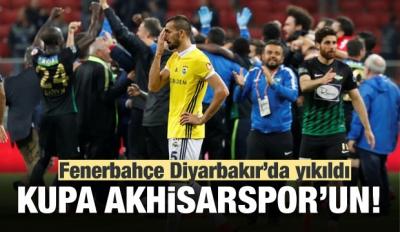 F.Bahçe Diyarbakır'da yıkıldı! Kupa Akhisar'ın!