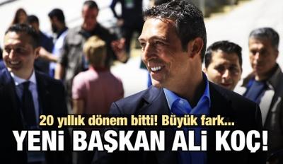 F.Bahçe'nin yeni başkanı Ali Koç oldu!