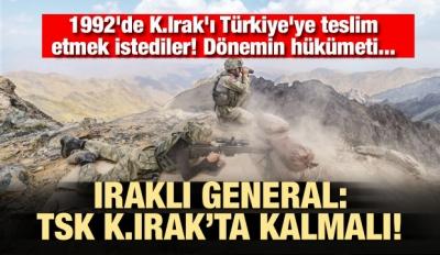 Flaş iddia! 1992'de K.Irak' Türkiye'ye teslim etmek istediler