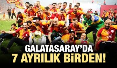 Galatasaray'da 7 ayrılık birden!