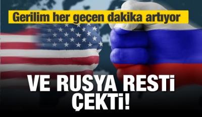 Gerilim tırmanıyor! Rusya resti çekti