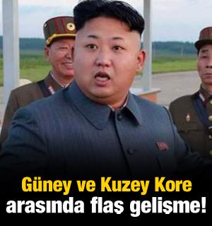 Güney ve Kuzey Kore arasında flaş gelişme