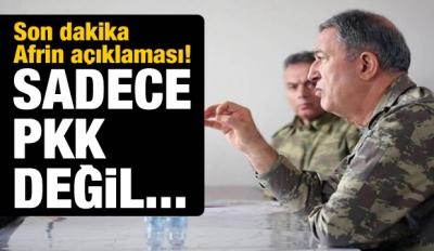 Hulusi Akar açıkladı! Sadece PKK değil...