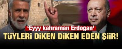 İdlibli şairden Başkan Erdoğan'a şiir