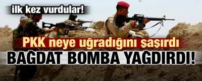 Irak'tan sürpriz PKK hamlesi! Bomba yağdırdılar