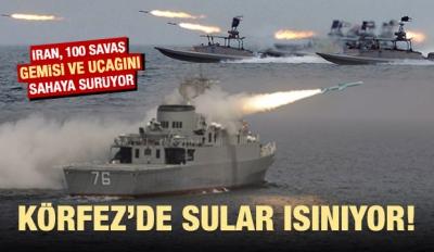 İran sahaya sürüyor! 100 savaş gemisi ve uçağı...