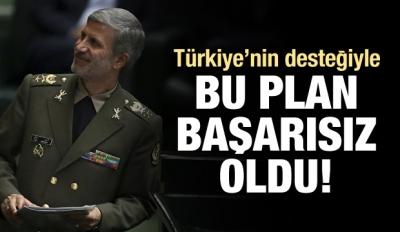 İran: Türkiye'nin desteğiyle plan başarısız oldu