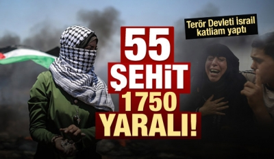 İsrail Askerleri Ateş Açtı: Şehit Sayısı 55...
