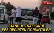İstanbul Trafiğinde Pes Dedirten Görüntüler...