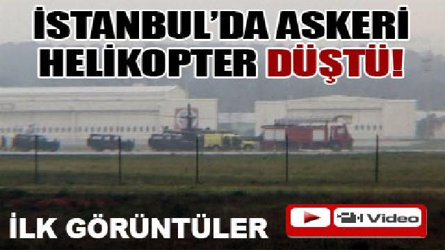 İstanbul'da askeri helikopter düştü. 4 Asker Şehit 1 Asker Yaralı
