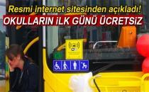 İstanbul'da Okulların İlk Günü Ulaşım Ücretsiz